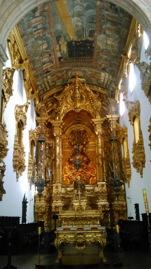 Altar de ouro no Mosteiro de São Bento - Olinda