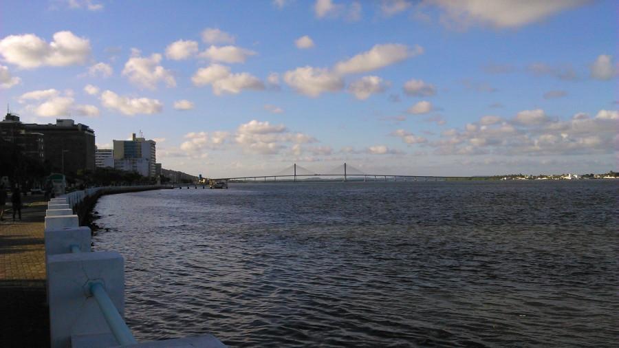 Ponte Aracaju-Barra sobre o rio Sergipe