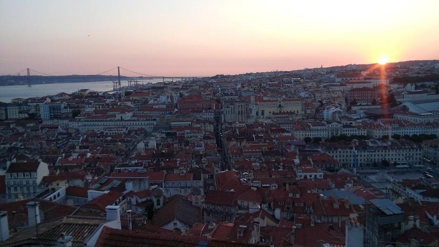 Vista do Castelo e a maravilhosa Lisboa