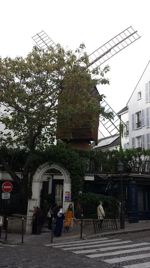 Moinho de verdade em Montmartre