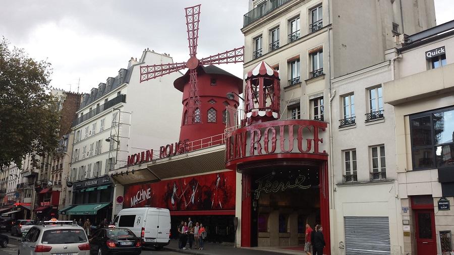 Moinho de mentira em Montmartre
