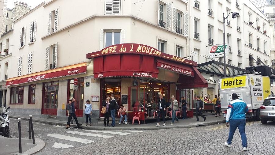 Café onde a Amélie Poulain trabalhava