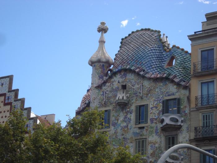 Detalhe do telhado – Casa Batló