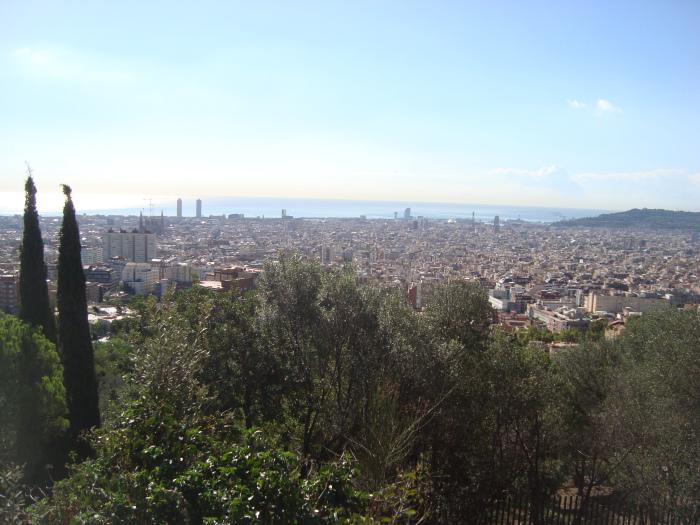 Bela visão panorâmica de Barcelona