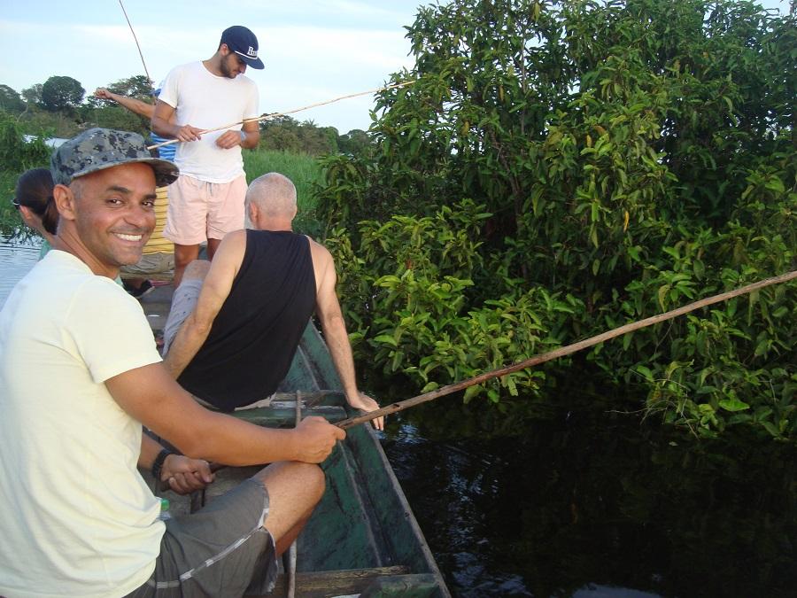 Pescando piranha