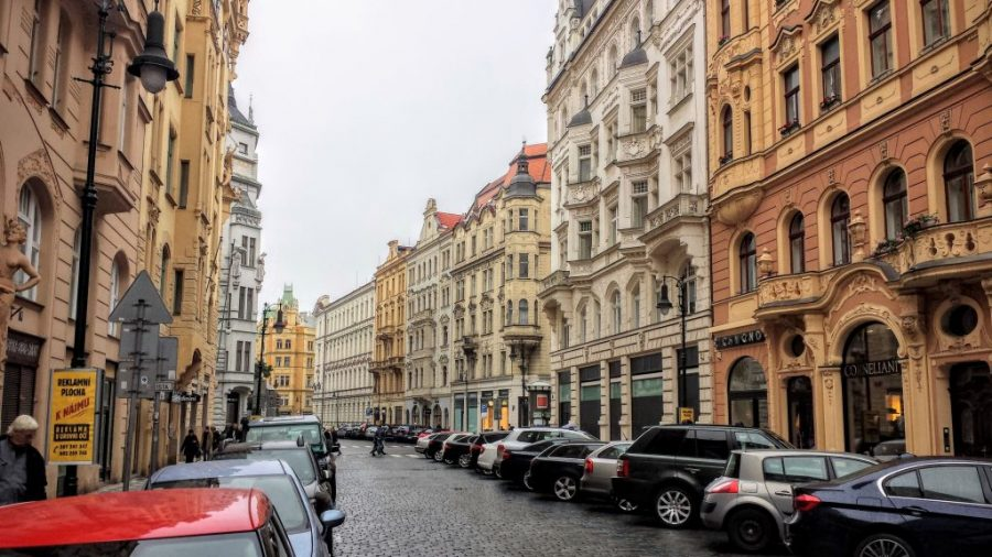 As lindas ruas do centro histórico de Praga