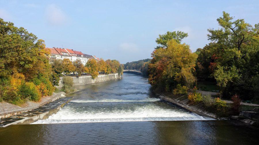Cruzando os rio de Munique