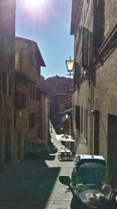 As medievais ruas de Siena