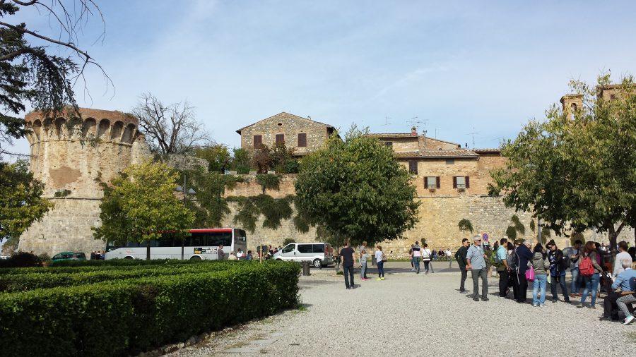 Os muros de San Gimignano