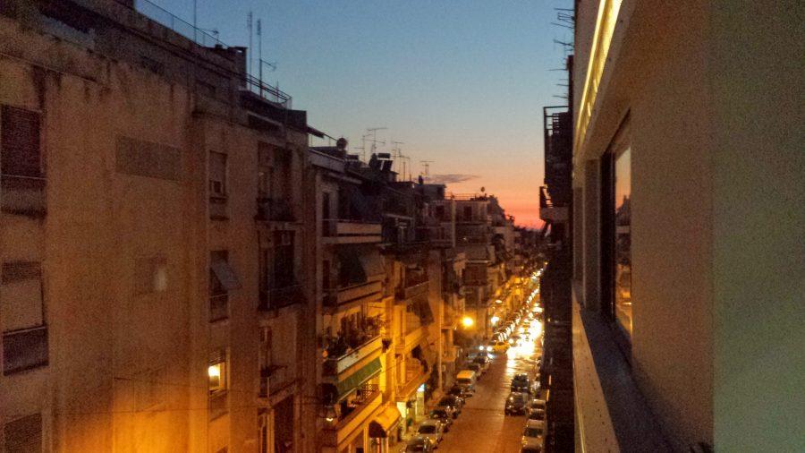 Pôr do sol em Atenas