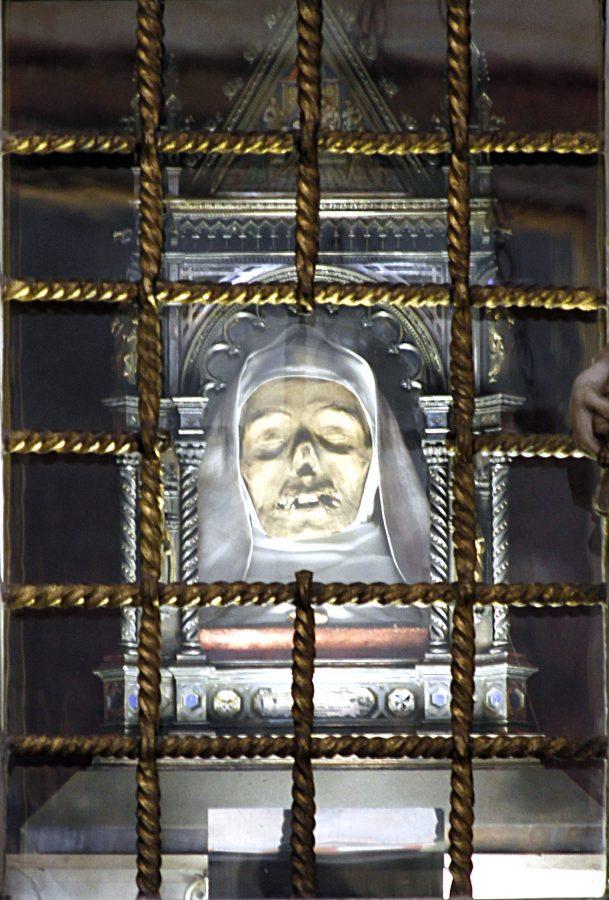 A cabeça da Santa Caterina de Siena
