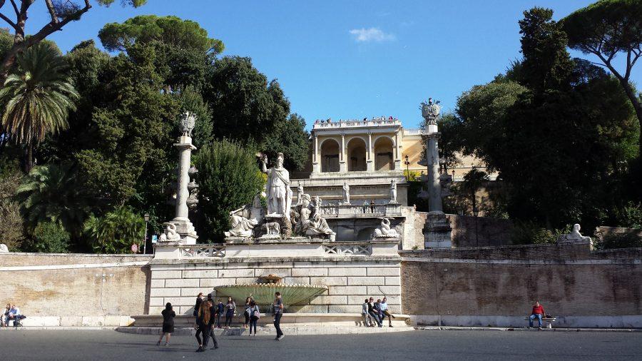 Fontana Della Dea Di Roma, na Piazza del Popolo