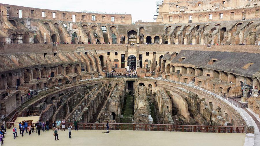 Visão interna do Coliseu - Roma