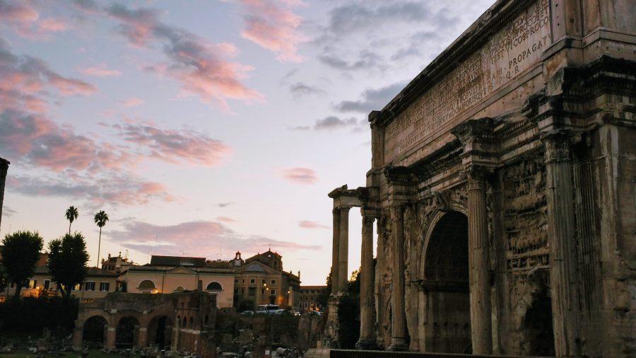 Entardecer em Roma