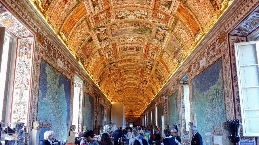 Corredor museu do Vaticano
