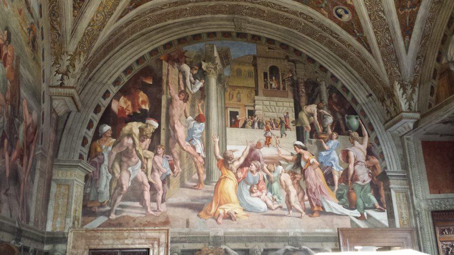 O incêndio de Borgo - Museu do Vaticano