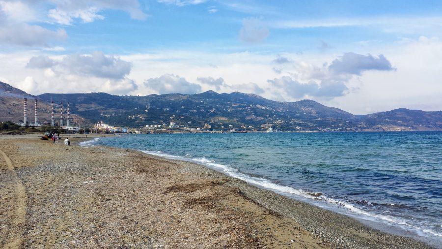 Praia de Gazi em Creta na Grécia