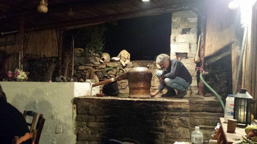 Raki em Creta na Grécia