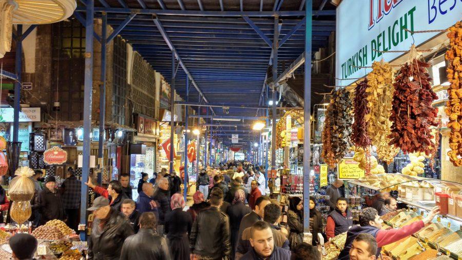 Bazar das especiarias em Istambul