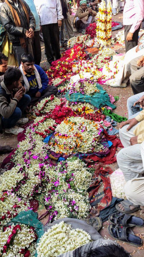 Mercado das flores - Varanasi