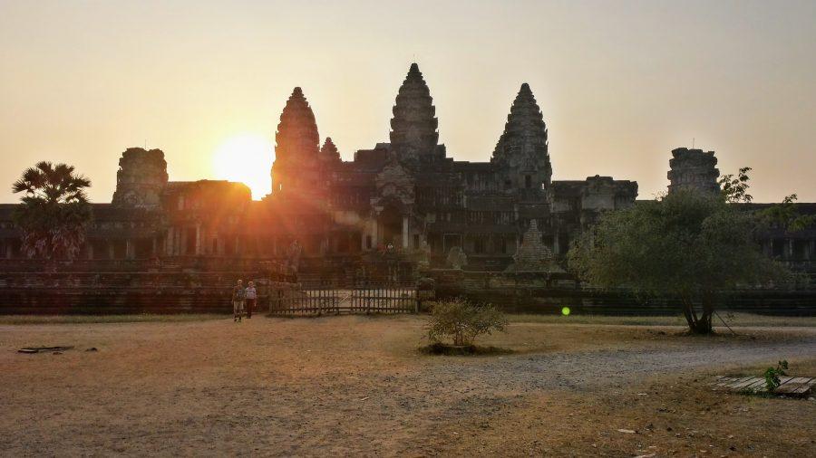 Pôr do sol em Angkor Wat