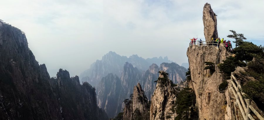 Flying rock Huangshan